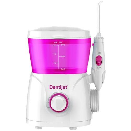 Ирригатор Dentijet F5 Beauty, белый/розовый