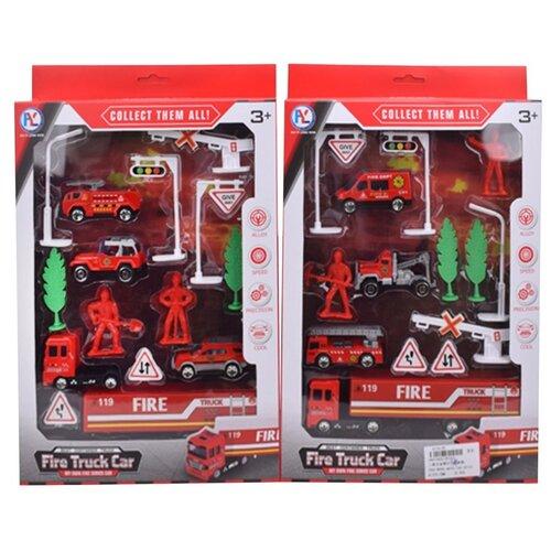 Купить Игровой набор Пожарный, в комплекте: машины металл. 4шт., предметов 10шт. Shantoy Gepay HY327, Наша игрушка, Игровые наборы и фигурки