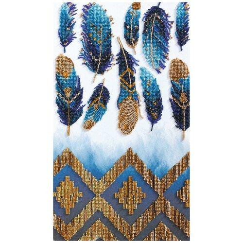 Купить ABRIS ART Набор для вышивания бисером Индиго 22 x 39 см (АВ-723), Наборы для вышивания