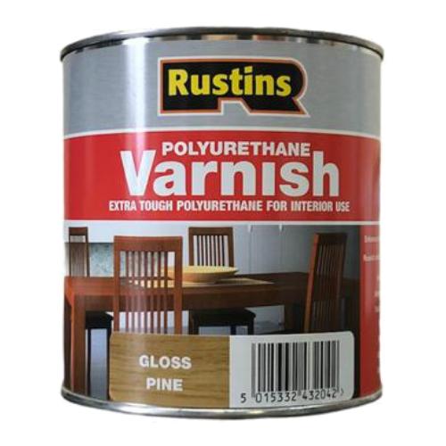 Лак Rustins Polyurethane Varnish Gloss глянцевый полиуретановый сосна 1 л