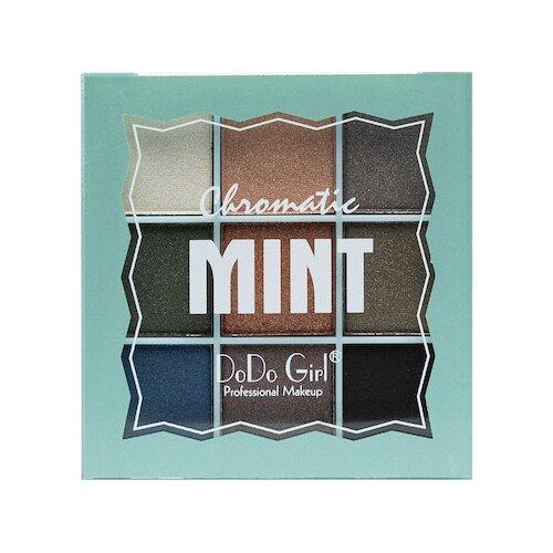 DoDo Girl Палетка теней Chromatic 9 цветов 02 Mint