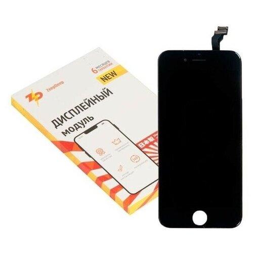Дисплей для iPhone ( айфон ) 6 в сборе с тачскрином и монтажной рамкой ZeepDeep PREMIUM, черный