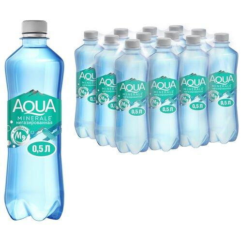 Фото - Вода питьевая Аква Минерале плюс с магнием негазированная, ПЭТ, 12 шт. по 0.5 л вода питьевая aqua minerale негазированная 2 л