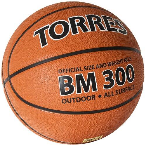 Мяч баскетбольный TORRES BM300, р.5, арт.B02015 баскетбольный мяч torres b30035 р 5 коричневый черный