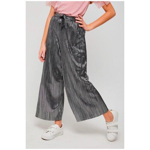 Брюки Sela размер 146 (11-12лет), серебристый брюки sela размер 146 коричневый