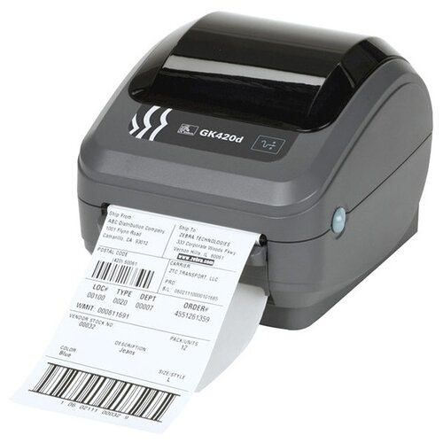 Термальный принтер этикеток ZEBRA GK420D темно-серый