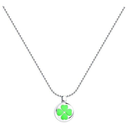 SOKOLOV Колье из серебра с эмалью 94070465, 40 см, 3.62 г
