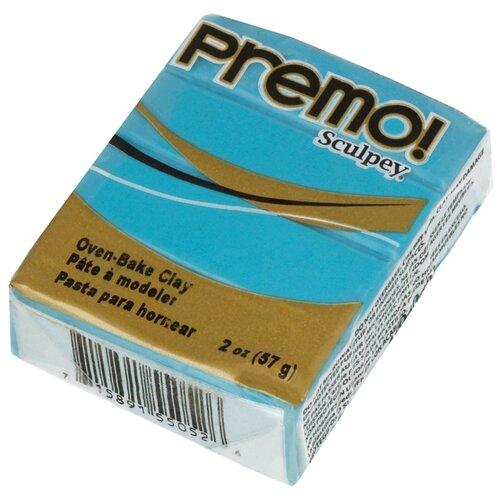 Купить Полимерная глина Sculpey Premo, цвет - 5505 под бирюзу, 57 г, Глина