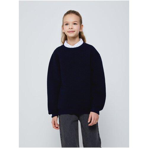 Джемпер Sela размер 146 (11-12лет), темно-синий брюки sela размер 146 коричневый