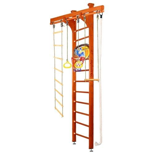 Купить Шведская стенка Kampfer Wooden Ladder Ceiling Basketball Shield высота 3 м вишневый, Игровые и спортивные комплексы и горки