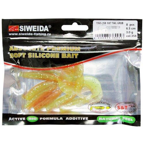 Набор приманок резина SIWEIDA Fat Tail Grub твистер цв. 358 8 шт.
