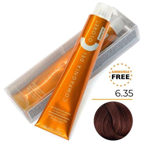 Купить Compagnia Del Colore Стойкая безаммиачная крем-краска, 6/35 темно-русый шоколадный, 100 мл