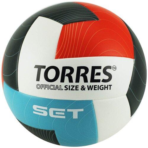 Волейбольный мяч TORRES Set V32045 белый/голубой/красный/черный