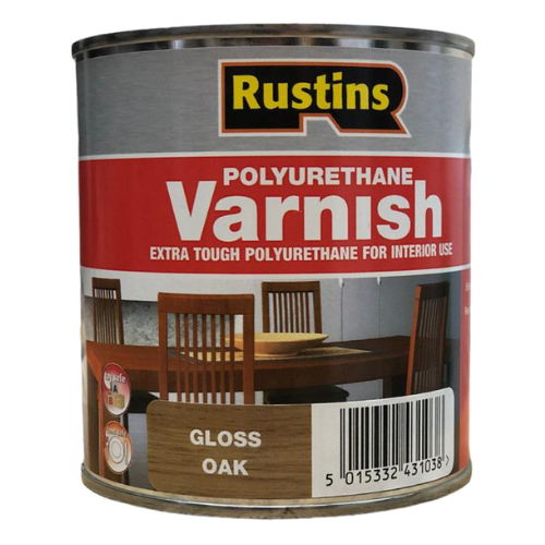 Лак Rustins Polyurethane Varnish Gloss глянцевый полиуретановый дуб 0.5 л