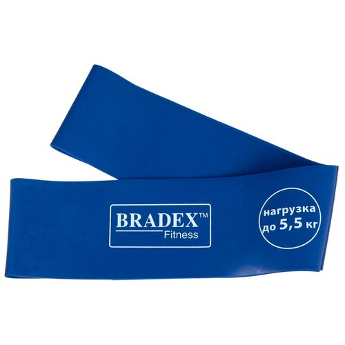 Фото - Эспандер лента BRADEX SF 0260 (нагрузка до 5.5 кг) 60 х 5 см синий эспандер универсальный bradex профи болл 140 х 14 см синий