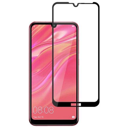 Полноэкранное защитное стекло для Huawei Y7 2019 г., Y7 Pro 2019 г., Y7 Prime 2019 г. и Enjoy 9 / Стекло на Хуавей Y7 2019 г., Y7 Про 2019 г., Y7 Прайм 2019 г. и энджой 9 / стекло на весь экран / Full Glue от 3D до 21D (черный)