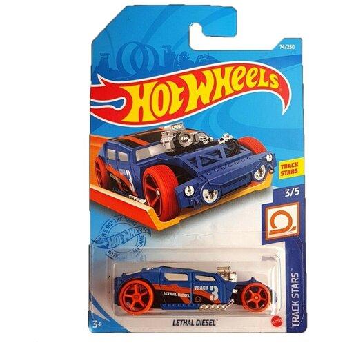 Hot Wheels Базовая машинка Lethal Diesel, синяя mattel базовая машинка hot wheels tesla model 3