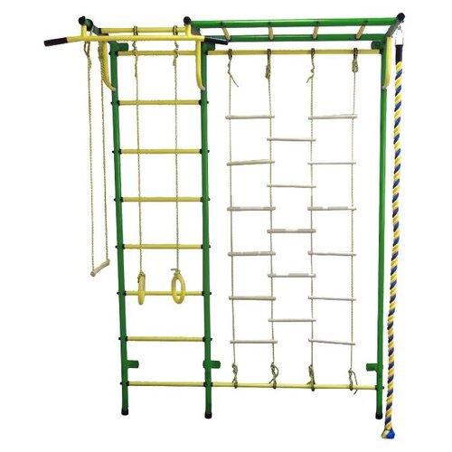 Спортивно-игровой комплекс Пионер С4ЛМ, зеленый/желтый