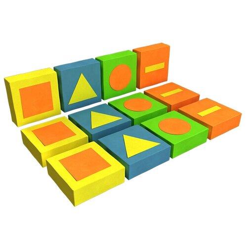 Купить Мягкий игровой комплекс ROMANA Обучающие фигуры ДМФ-МК-12.95.01, желтый/синий/оранжевый, Игровые и спортивные комплексы и горки