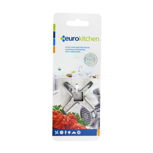 Eurokitchen KNG-08 нож для мясорубки/кухонного комбайна, пос. место квадрат 9 мм, размах 46,5 мм, для мясорубки BRAUN