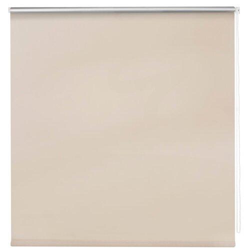 Рулонная штора DECOFEST Блэкаут Слоновая кость, 160х160 см