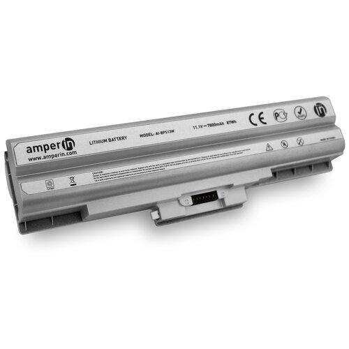 Аккумуляторная батарея Amperin для ноутбука Sony Vaio VGN-FW 11.1V 6600mAh (73Wh) AI-BPS13WH белая
