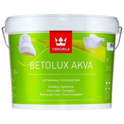Фото - Краска акриловая Tikkurila Betolux Akva полуглянцевая бесцветный 9 л краска акриловая tikkurila luja 40 полуглянцевая прозрачный 9 л