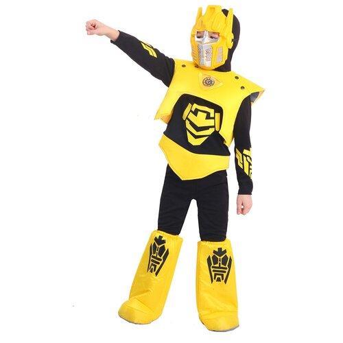 Фото - Костюм пуговка Робот (2063 к-20), черный/желтый, размер 128 костюм пуговка кузнечик 2080 к 20 зеленый размер 128