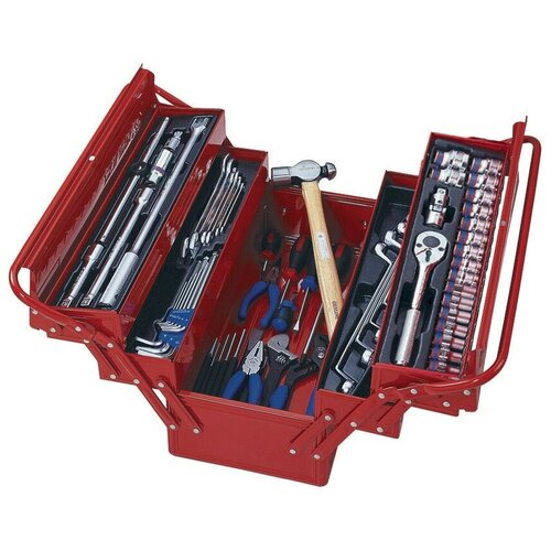 Набор инструментов универсальный, раскладной ящик, 65 предметов KING TONY 902-065MR01