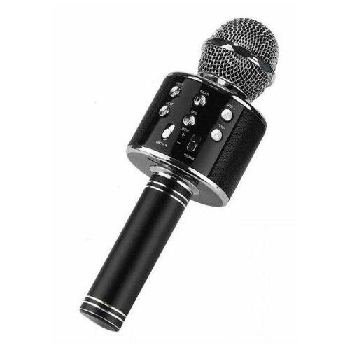 Беспроводной караоке-микрофон WS-858 (чёрный)