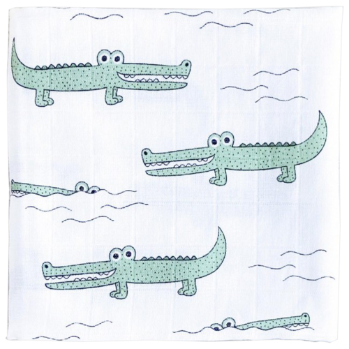 Многоразовые пеленки Mjolk Муслиновая Крокодилы 80x80 см крокодилы 1 шт.