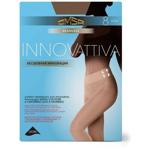 Колготки Omsa Innovattiva, 8 den, размер 4-L, beige naturel (бежевый) колготки omsa velour 15 den размер 4 l naturel бежевый