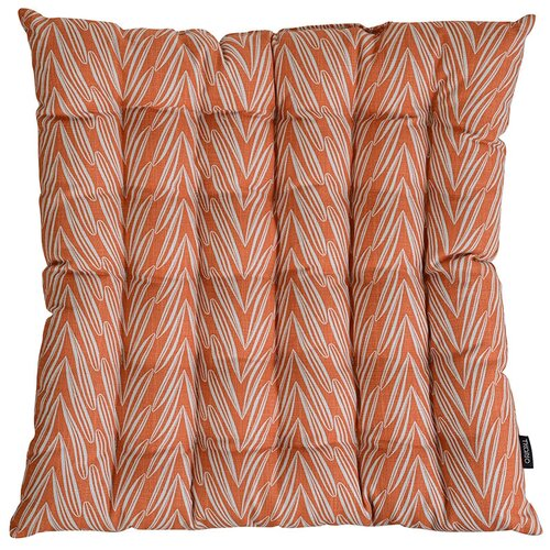 Подушка на стул стеганая из хлопка с графичным принтом Колосья из коллекции russian north