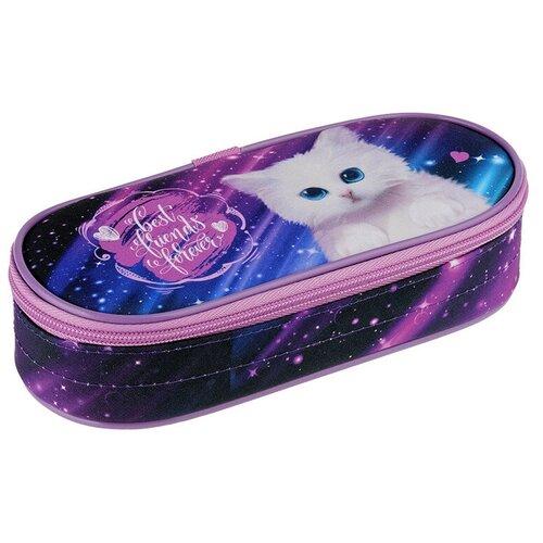 Купить Berlingo Пенал-футляр Cosmo cat (PM04626), фиолетовый, Пеналы