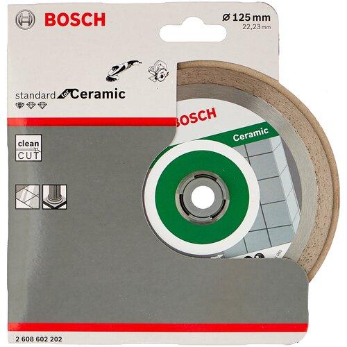 Фото - Диск алмазный отрезной BOSCH Standard for Ceramic 2608602202, 125 мм 1 шт. диск алмазный отрезной bosch standard for ceramic 2608602201 115 мм 1 шт