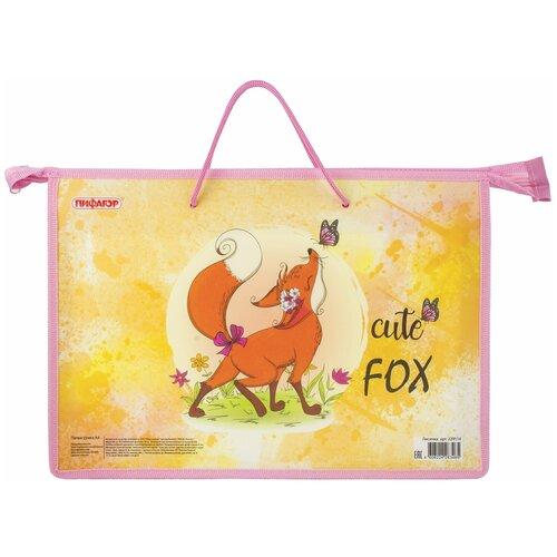 папка prox fresh 1 отделение на молнии с двумя ручками Папка на молнии с ручками ПИФАГОР А4, 1 отделение, пластик, молния сверху, FOX, 229114