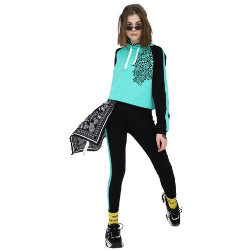 Спортивный костюм Nota Bene размер 152, черный/мятный