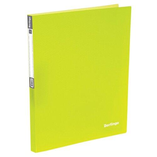 Фото - Berlingo Папка на 4-х кольцах Neon A4, 25 мм, 700 мкм, пластик желтый berlingo папка с 20 вкладышами neon a4 14 мм 700 мкм пластик зеленый