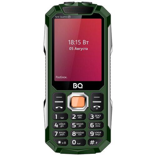 Телефон BQ 2817 Tank Quattro Power, зеленый