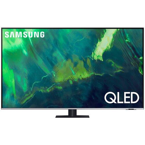 """Телевизор QLED Samsung QE65Q77AAU 65"""" (2021), черный/серебристый"""