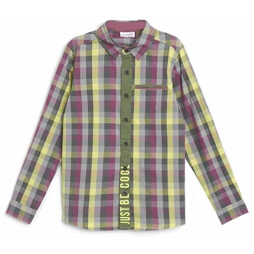 Рубашка COCCODRILLO размер 128, бордовый/серый
