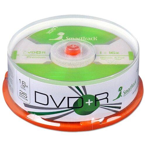 Диск SmartTrack DVD+R 47Gb 16x cake упаковка 25 штук
