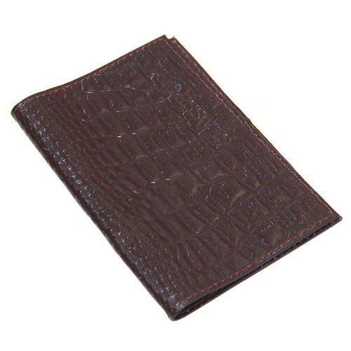 Обложка для паспорта Главдор GL-231 натуральная кожа Dark Brown 51818