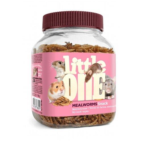 Фото - Лакомство для грызунов Little One Snack Mealworms 70 г little one snack puffed grains лакомство для грызунов воздушные зерна 100 гр