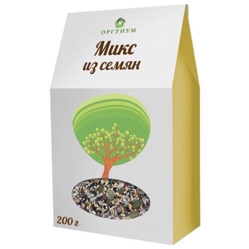Смесь семян Оргтиум из темного и светлого льна, темного и светлого кунжута, тыквенные семечки и семечки подсолнуха, 200 г микс семян льна оргтиум 200 г