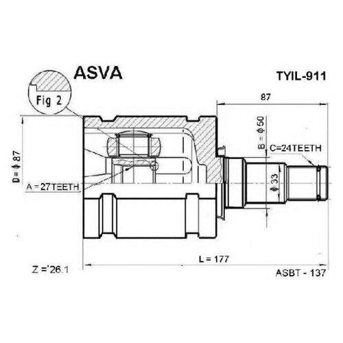 ШРУС Asva TYIL-911