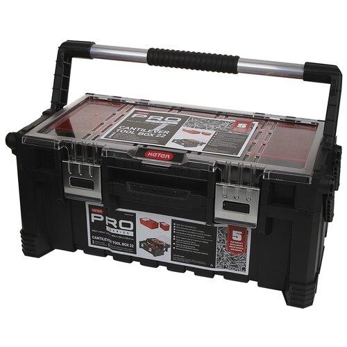 Фото - Ящик для инструментов Keter Cantilever Tool Box 22 17187311 ящик keter 2 drawers tool chest 17199303 56 2x28 9x26 2 см 22 красный