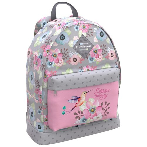 ErichKrause рюкзак EasyLine Colibri, серый/розовый недорого