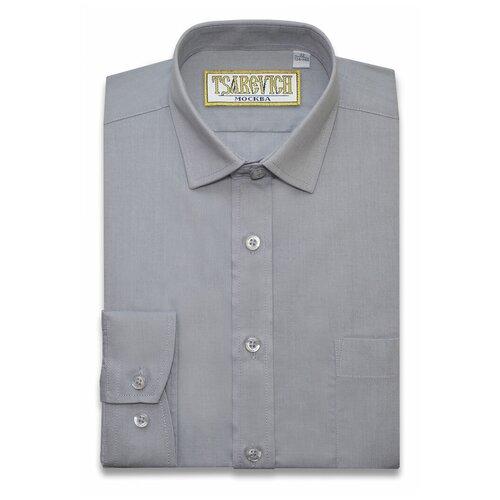 Рубашка Tsarevich размер 32/134-140, серый
