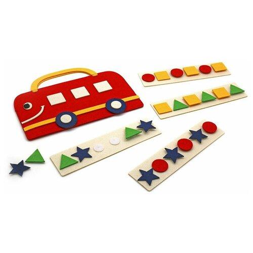 Развивающая игра SmileDecor Сумка-игралка Автобус Ф251 красный настольная игра smiledecor сумка игралка овощи фрукты и ягоды